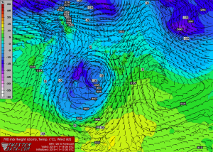 Low Pressure Position 00Z GFS Run 11/13/15